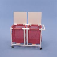 Healthline - 2 Mesh Bag Jumbo Linen Hamper W/Foot Pedal - LH182FW3