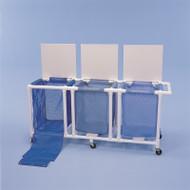 Healthline - 3 Mesh Bag Jumbo Linen Hamper W/Foot Pedal - LH183FW3