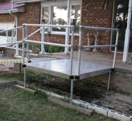 """Roll-A-Ramp - Platform 48"""" x 48"""", w/Handrails - PF1-48HR"""