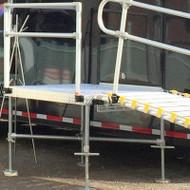 """Roll-A-Ramp - 48"""" x 60"""" Platform Reinforcement Kit - PFR-48.60 - Reinforcement Kit (Horizontal Cross Bars) Shown Below Platform"""