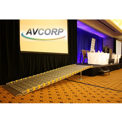 """Roll-A-Ramp - Portable Stage Ramp 36"""" x 8' - No Handrail"""