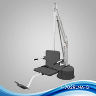 "Aqua Creek - Lift, Revolution Deep Draft (14""), 400 lb Cap, No Anchor, UL/ADA Compliant, White w/Gray Seat - F-702RLNA-DD-G"