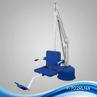 Aqua Creek - Lift, Revolution Deep Draft, w/Spa Arm, 400 lb Cap, UL/ADA Compliant, No Anchor, White w/Blue Seat - F-702RLSDD