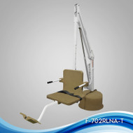 Aqua Creek - Lift, Revolution Deep Draft, w/Spa Arm, 400 lb Cap, UL/ADA Compliant, No Anchor, White w/Tan Seat - F-702RLSDD-T