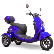 E-Wheels - 3 Wheel Retro Style Scooter - EW-Bugeye Blue