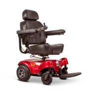 "E-Wheels - Compact Power Chair, 300 lbs Weight Cap., 18.5"" Captains Seat, Headrest - EW-M31 Red"