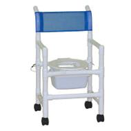 "MJM Intl - Folding Shower Chair w/Square Pail, 3"" Twin Casters, 200 lbs Weight Cap. - 118-3-FD-SQ-Pail"