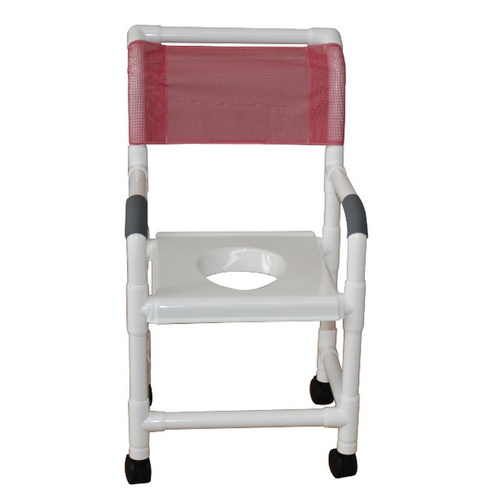 """MJM Intl - Shower Chair, 22"""" Int. Width, Full Support Snap On Seat, 3"""" Twin Casters, 375 lbs Weight Cap. - 122-3TW-VS"""