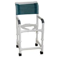 "MJM Intl - Adjustable Height Shower Chair, 22"" Int. Width, 5"" Heavy Duty Casters, 250 lbs Weight Cap. - 122-5HD-ADJ"