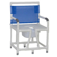 "MJM Intl - Bariatric Bedside Commode, 24"" Int. Width, Full Support Mesh Back, 10 Qt. Pail, 700 lbs Weight Cap. - 124-C10"