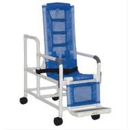 MJM Intl - Tilt Shower Chair w/Sling Seat, Buckle Safety Belt, Dual Swing Away Armrests, Footrest, 250 lbs Weight Cap. - 193-TIS-SL