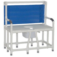 "MJM Intl - Bariatric Bedside Commode, 36"" Int. Width, Full Support Mesh Back, 10 Qt. Pail, 900 lbs Weight Cap. - 136-C10"