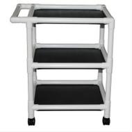 "MJM Intl - 3-Shelf Utility Cart (No Cover )Shelf Size: 24"" x 25"", 90 lbs Per Shelf - 325-24-3"
