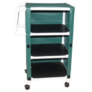 MJM Intl - Non-Magnetic 3-Shelf Linen Cart w/Cover - 325-24-3C-MRI