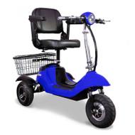 E-Wheels - EW-20Blue Sporty 3 Wheel Scooter - Blue