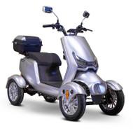 E-Wheels - EW-75 Four Wheel Electric Mobility Scooter - Silver - EW-75S