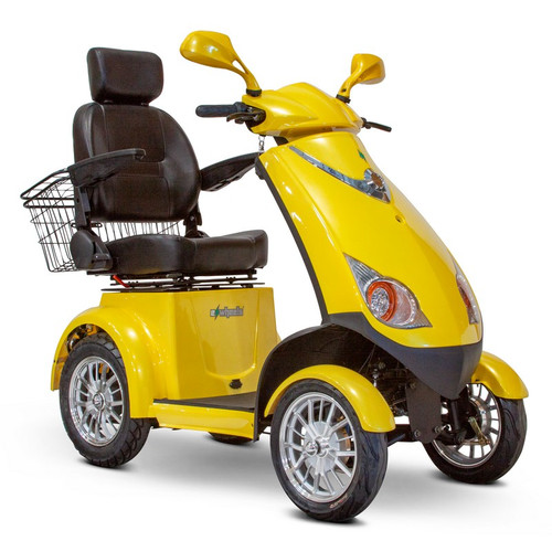 E-Wheels - EW-72Y Four Wheel Electric Mobility Scooter - Yellow