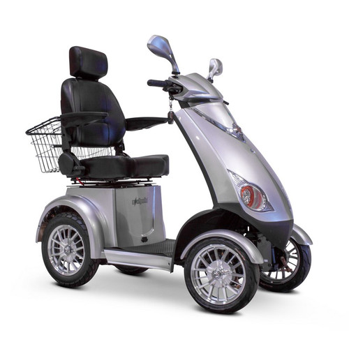 E-Wheels - EW-72S Four Wheel Electric Mobility Scooter - Silver