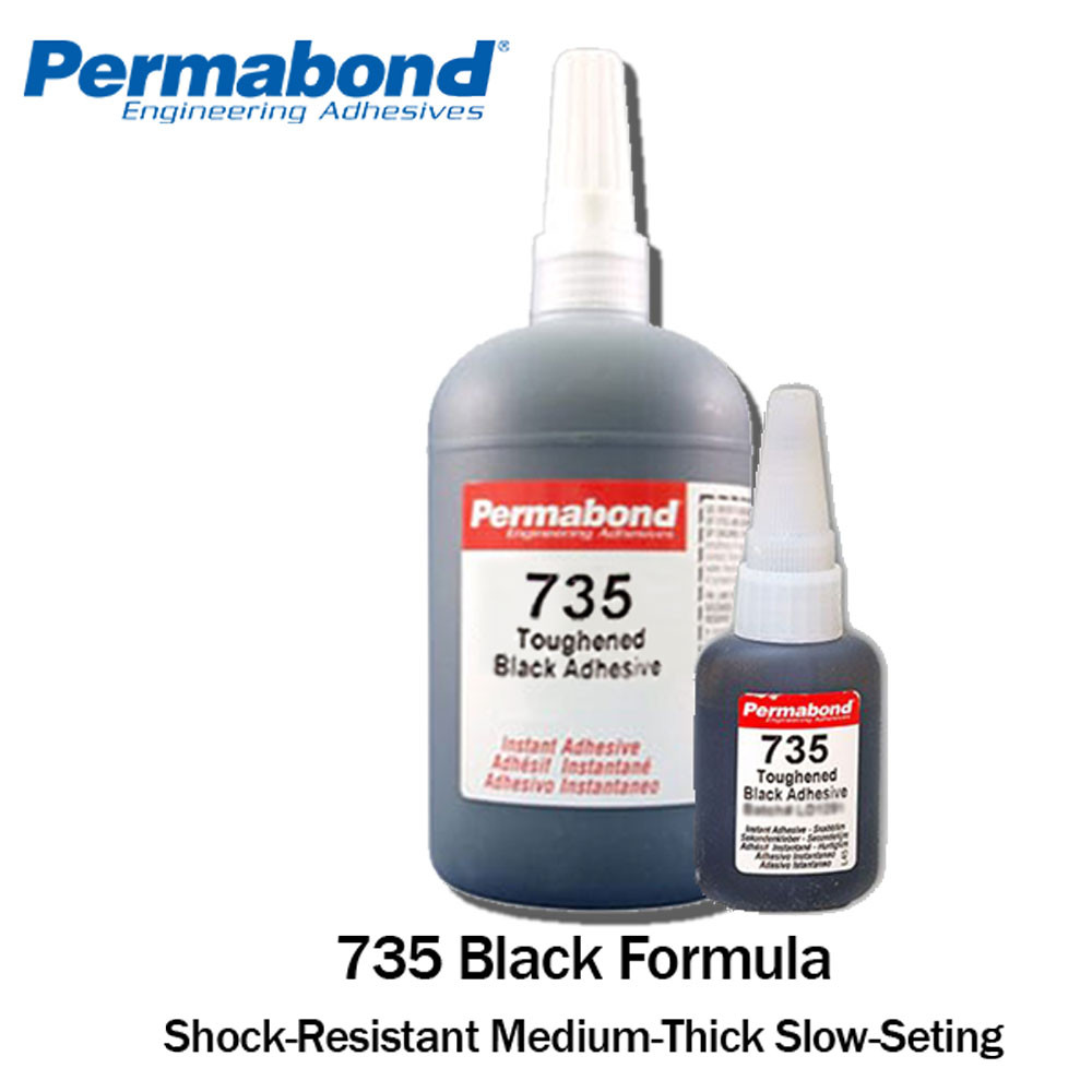 Black Magic Toughened Flexible Temp-resistant Gel 1oz Bottle Permabond 737