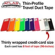 Travel Duct Tape Thin-Profile Cards - 2-Packs (16-Feet) - Variety of Colors