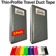Atlas Pro Classic Grey Travel Duct Tape Thin-Profile Cards - 2-Pack (16-Feet)
