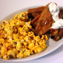 hot wings & blue cheese dressing gourmet popcorn