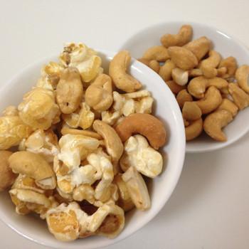 caramel cashew gourmet popcorn