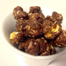dark chocolate gourmet popcorn