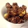 dark chocolate gourmet popcorn