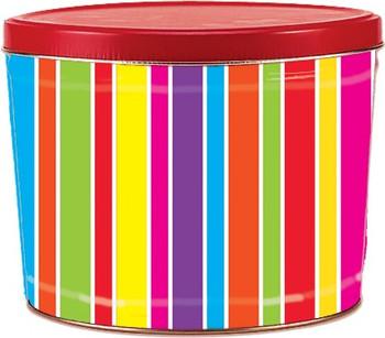 2 Gallon Coloful Stripes Tin