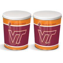 Virginia Tech 3 Gallon Popcorn Tin