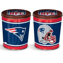 NE Patriots 3 gallon Gourmet Popcorn Tin