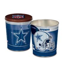 Dallas Cowboys 3 gallon Gourmet Popcorn Tin