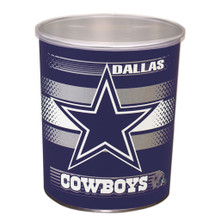 Dallas Cowboys 1 Gallon Popcorn Tin
