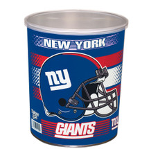 New York Giants 1 Gallon popcorn Tin