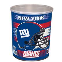 New York Giants 1 Gallon popcorn Tin