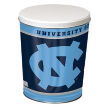 University of North Carolina 3 Gallon Popcorn Tin