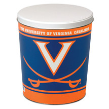 University of Virginia 3 Gallon Popcorn Tin