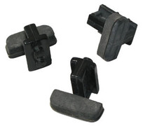 Black Wide Sliders For Giffin Grip (Set Of 3)