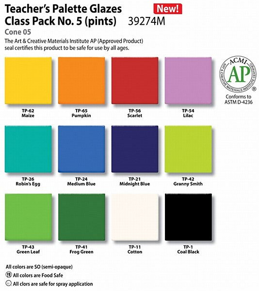 Teacher's Palette Class Pack #5 - Archie Bray Clay Business