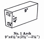 "2300 3"" Soft Arch Brick #1"