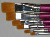 Flat Brush Set 6 pc