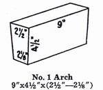 "2300 2.5"" Soft Arch Brick #1"