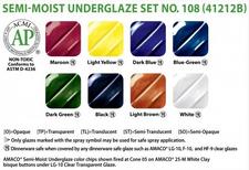 Semi-Moist Underglaze Set 108