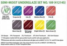 Semi-Moist Underglaze Set 109
