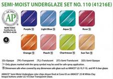 Semi-Moist Underglaze Set 110