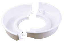 Shimpo Two-Piece White Splash Pan
