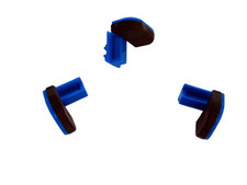 Blue Wide Sliders with Molded Pad For Giffin Grip  (Set of 3)