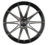Vertini Wheels Vertini RF1.3 Gloss Black Tint Face Rotary Forged 20x9 05 Mustang