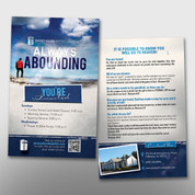 """Always Abounding"" Invite Card #14204"